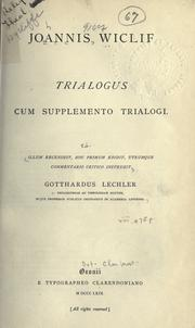 Cover of: Trialogus cum supplemento trialogi