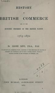 Cover of: History of British commerce