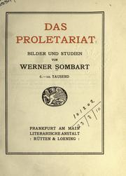 Cover of: Das Proletariat