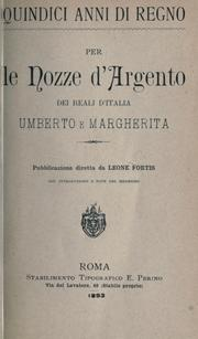 Cover of: Quindici anni di regno