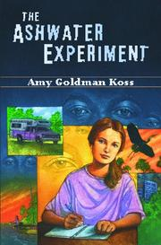 Cover of: The Ashwater experiment