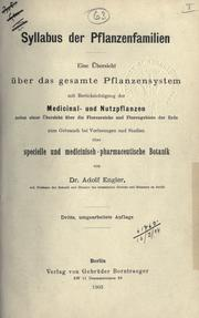 Cover of: Syllabus der Pflanzenfamilien