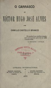 Cover of: O carrasco de Victor Hugo José Alves