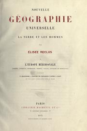Cover of: Nouvelle geographie universelle