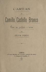 Cover of: Cartas de Camillo Castello Branco