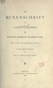 Cover of: Die Runenschrift by Ludvig Frands Adalbert Wimmer