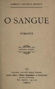 Cover of: O sangue: romance.
