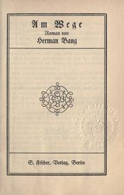 Cover of: Am Wege
