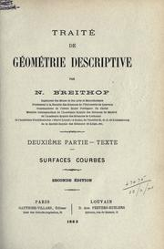 Cover of: Traité de géométrie descriptive