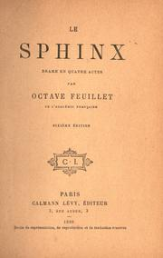 Cover of: Le sphinx: drame.