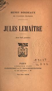 Cover of: Jules Lemaître