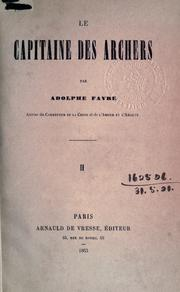 Le capitaine des archers by Adolphe Favre