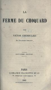 Cover of: La ferme du Choquard
