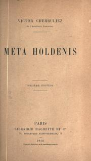 Cover of: Meta Holdenis