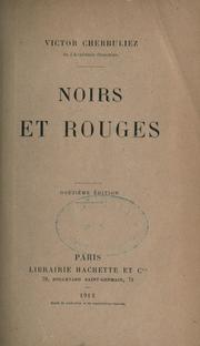 Cover of: Noirs et rouges