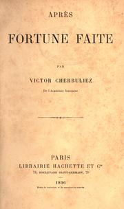 Cover of: Après fortune faite