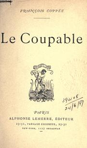 Cover of: Le coupable