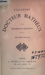 Cover of: L' illustre docteur Mathéus