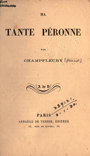 Cover of: Ma tante Péronne