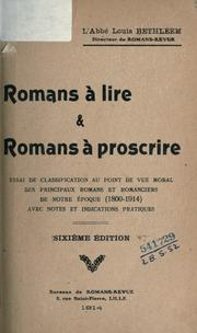 Cover of: Romans à lire et romans à proscrire