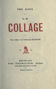 Cover of: Le collage