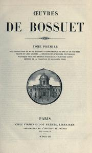 Cover of: uvres de Bossuet