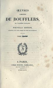 Cover of: Oeuvres complètes de Boufflers