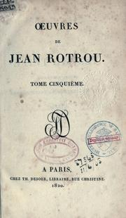 Cover of: Oeuvres de Jean Rotrou