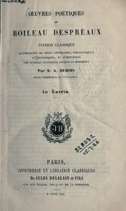 Cover of: Lutrin