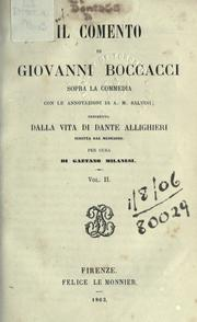 Cover of: Il comento sopra la Commedia