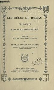 Cover of: Les héros de roman