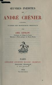 Cover of: Oeuvres inédites