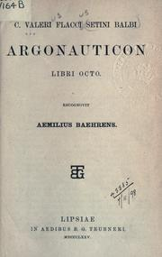 Cover of: Argonauticon libri octo