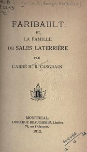 Cover of: Biographies de G.B. Faribault et Laterrière