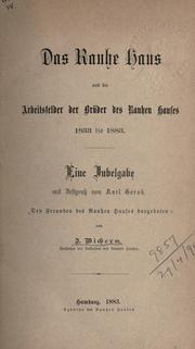 Cover of: Das Rauhe Haus