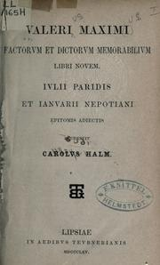 Cover of: Factorum et dictorum memorabilium libri novem