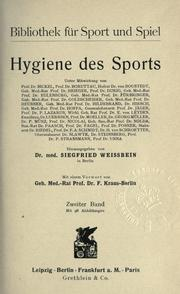 Hygiene des Sports by Siegfried Weissbein