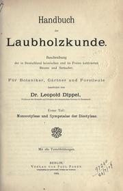 Handbuch der Laubholzkunde by Leopold Dippel
