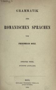 Grammatik Der Romanischen Sprachen, Volume.