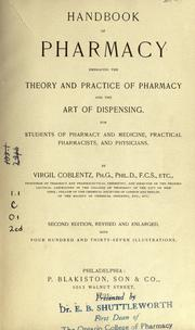 Cover of: Handbook of pharmacy