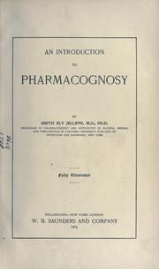 Cover of: An introduction to pharmacognosy
