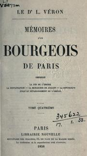 Cover of: Mémoires d'un bourgeois de Paris