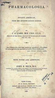 Pharmacologia by John Ayrton Paris