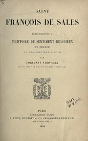 Cover of: Saint François de Sales