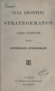 Cover of: Strategematon libri quattuor