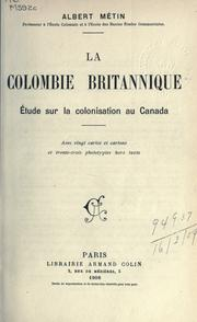 La Colombie britannique by Albert Métin