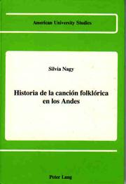 Cover of: Historia de la cancion folklorica en los Andes