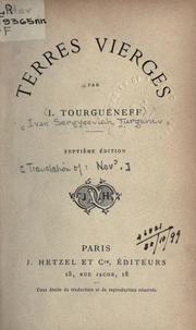Cover of: Terres vierges