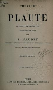 Cover of: Théatre de Plaute