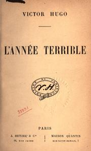 Cover of: L' Année terrible